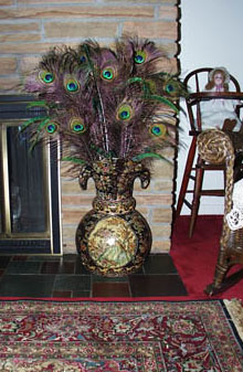 Decorating With Peacock Feathers